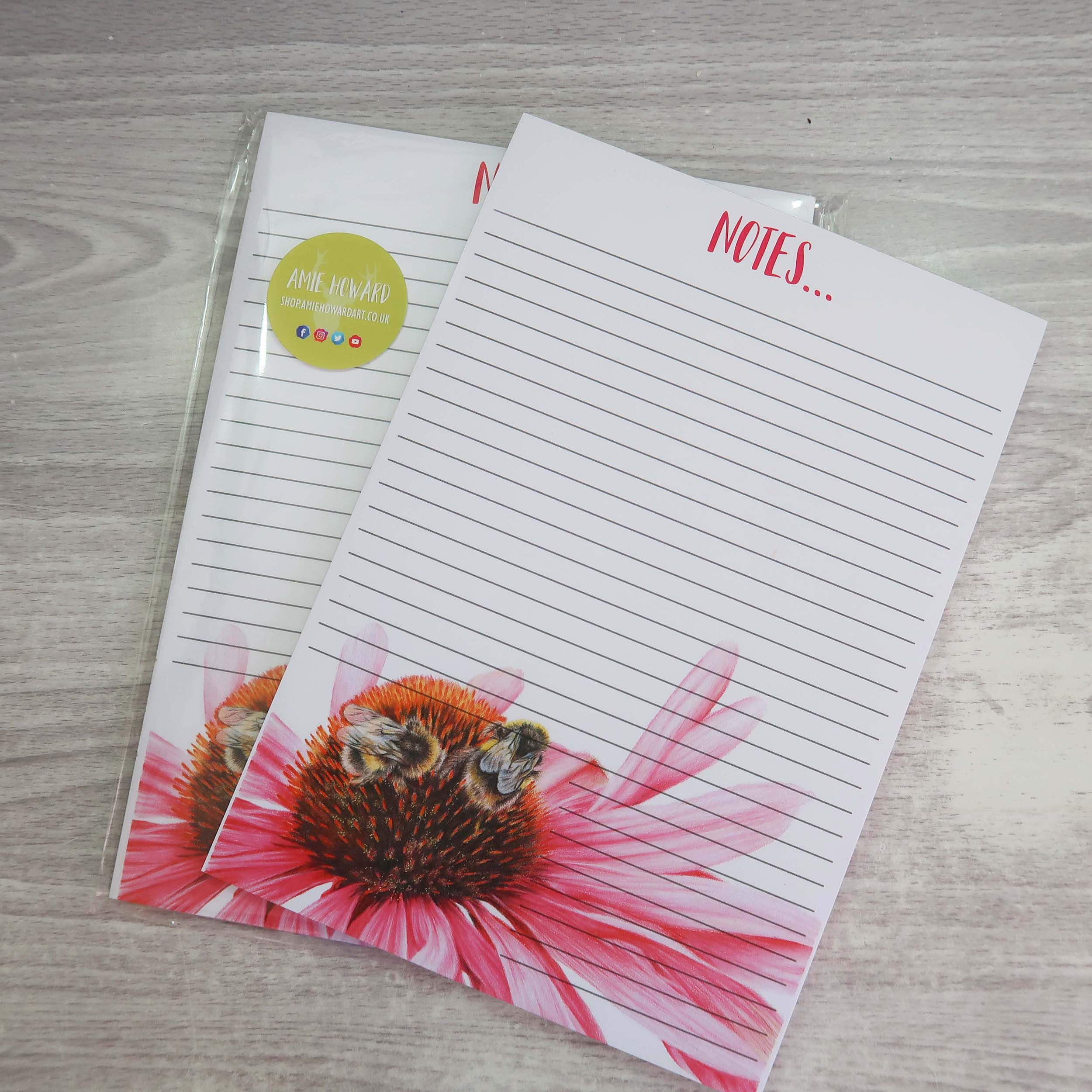 bumblebee lined notepad