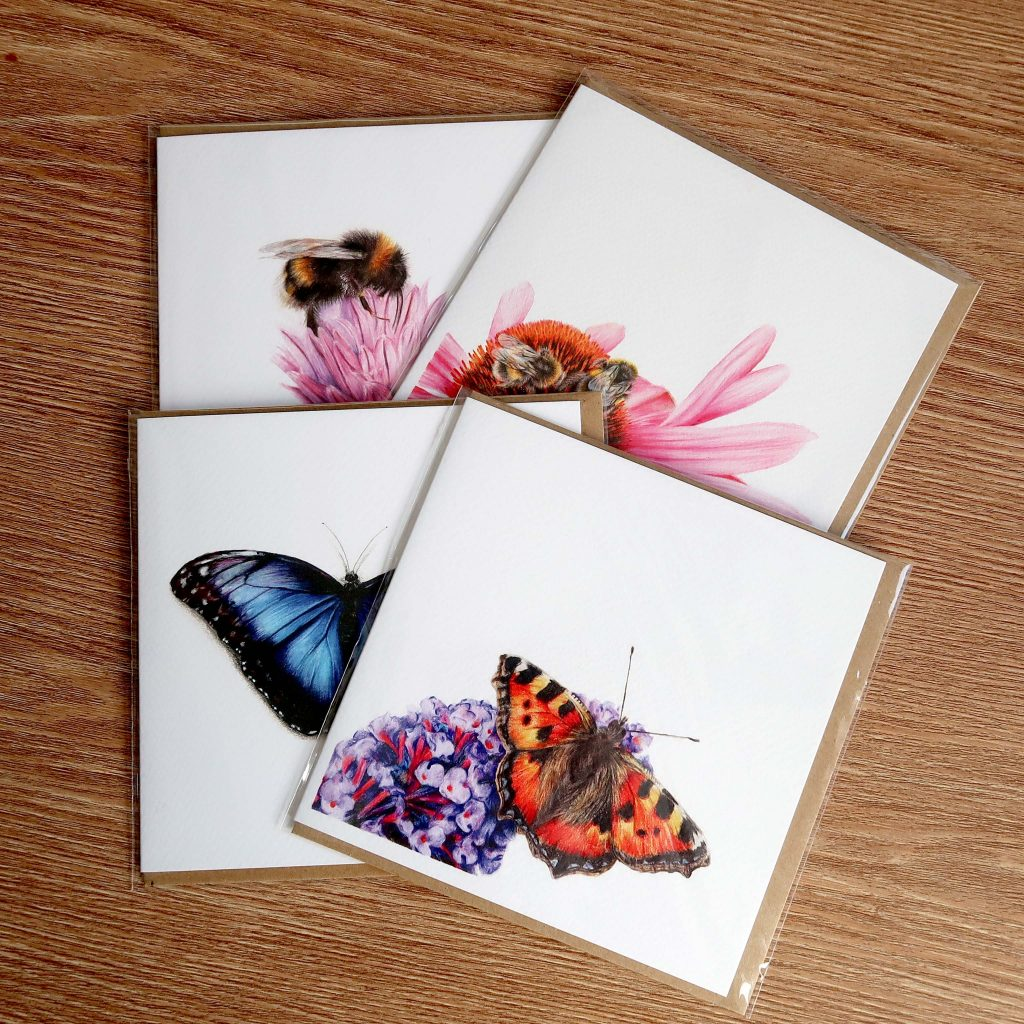 Pollinator Cards | Pack of 4 | Greetings Cards
