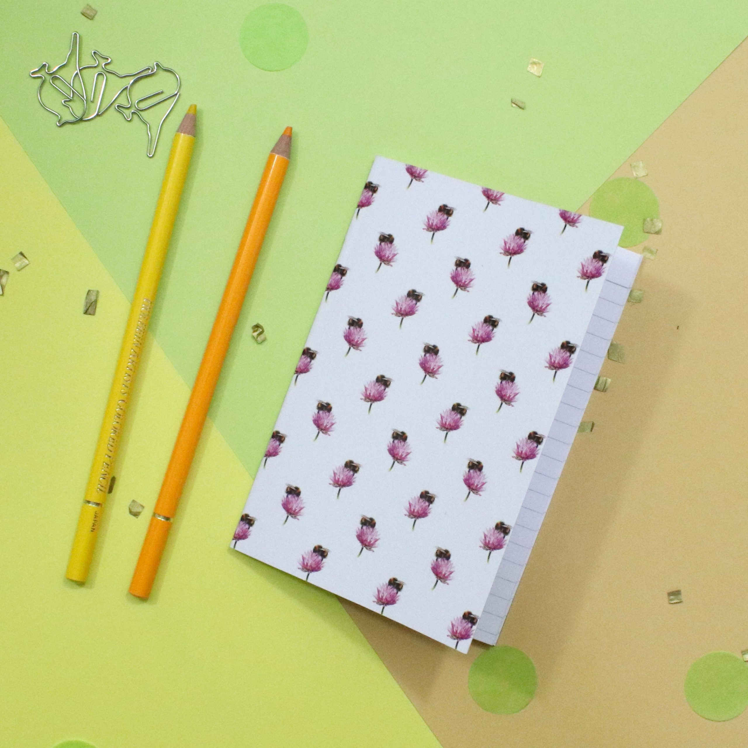 Bee Notebook | Bee Gift | A6 Lined Notebook