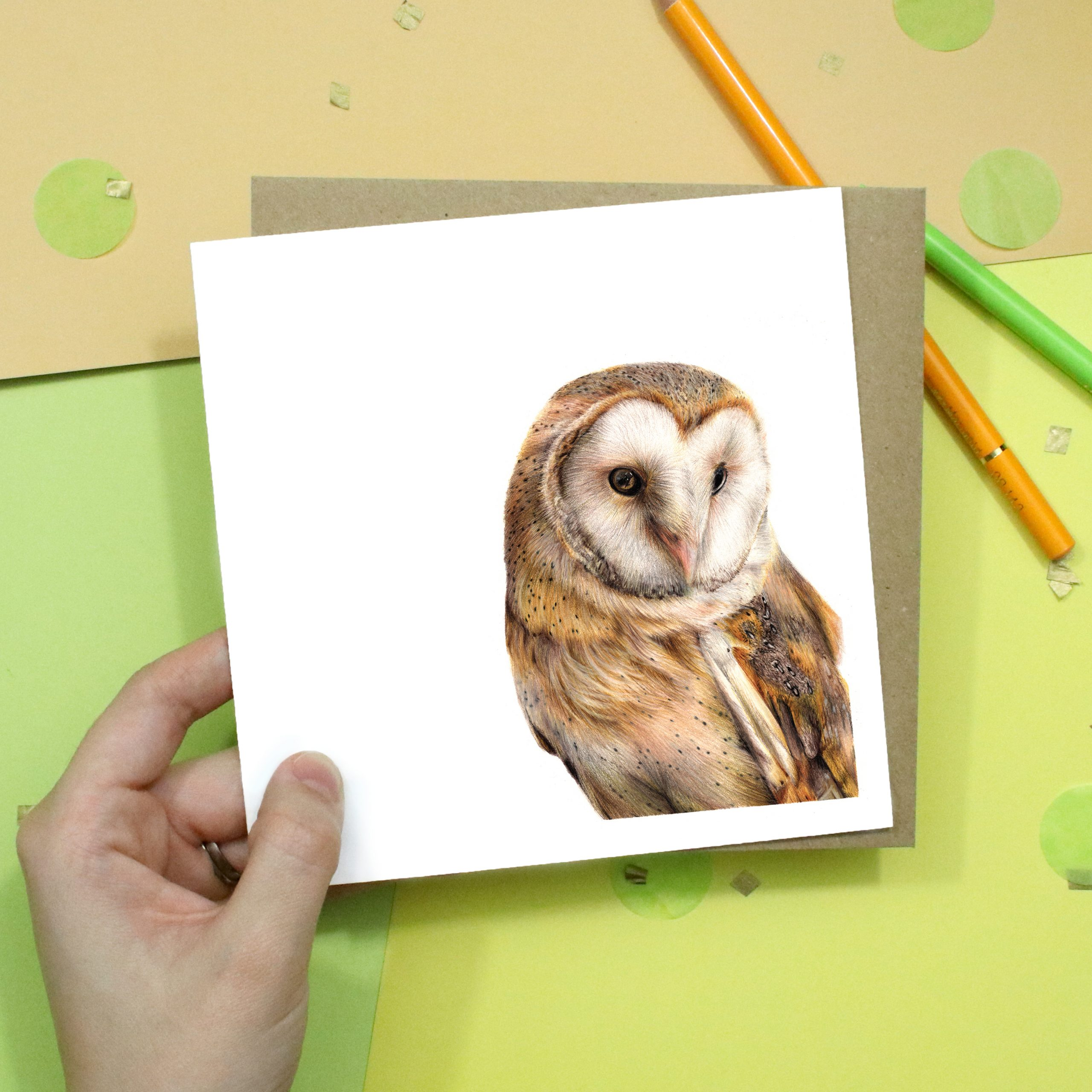 Barn Owl Card | Bird Card | Wildlife | Greetings Card