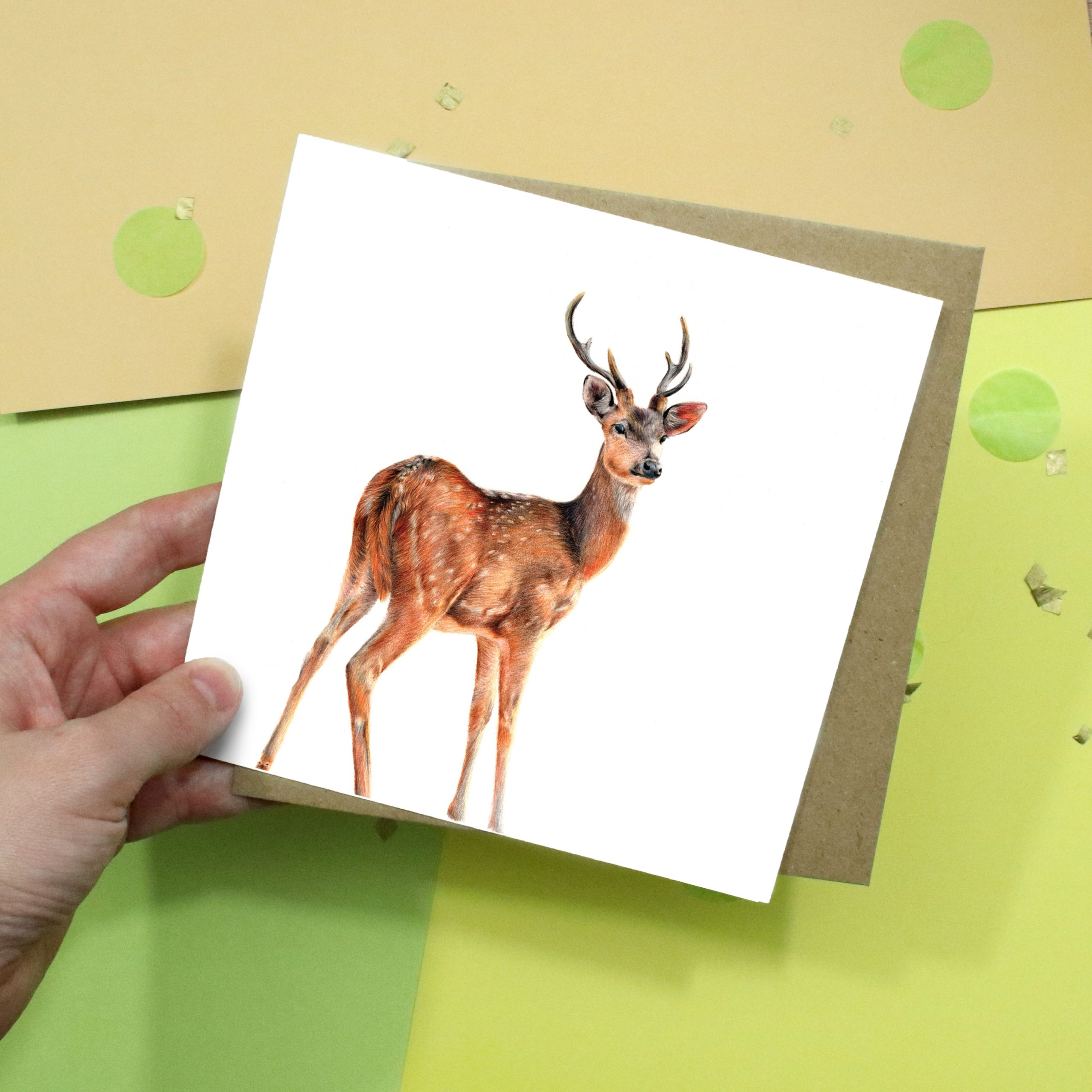 Deer Card | Fallow Deer | Wildlife Card