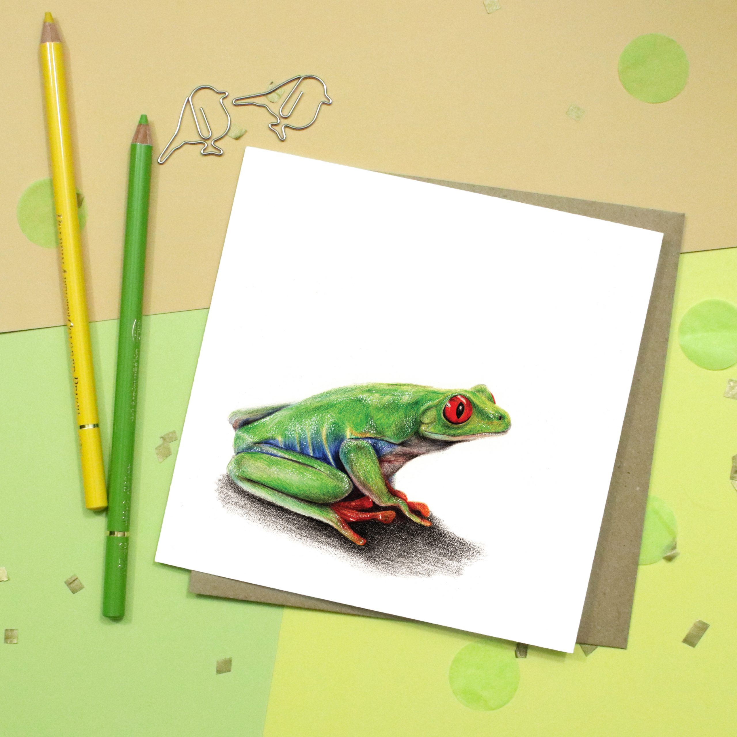 Frog Card | Tree Frog | Wildlife Card