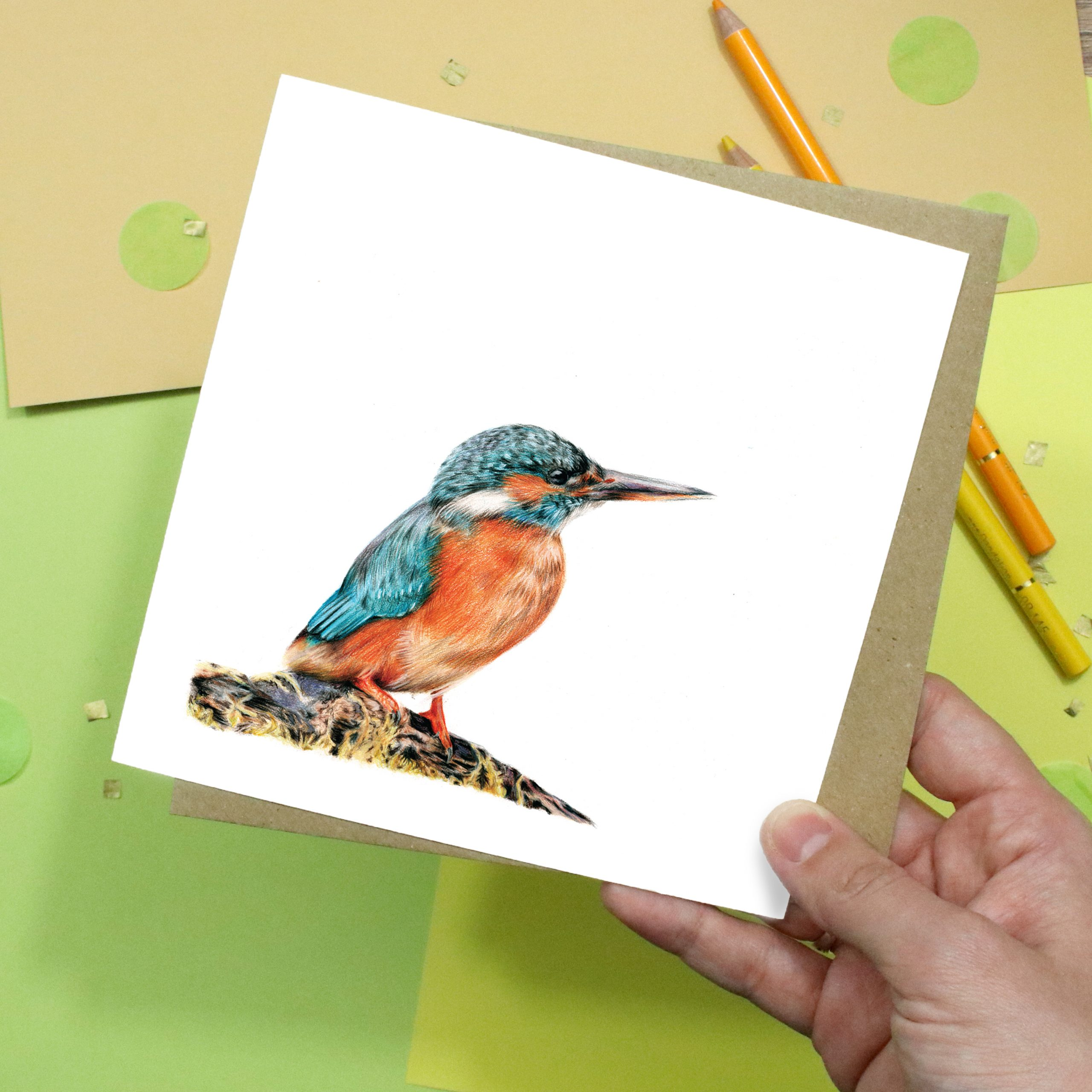 Kingfisher Card | Bird Card | Wildlife Card