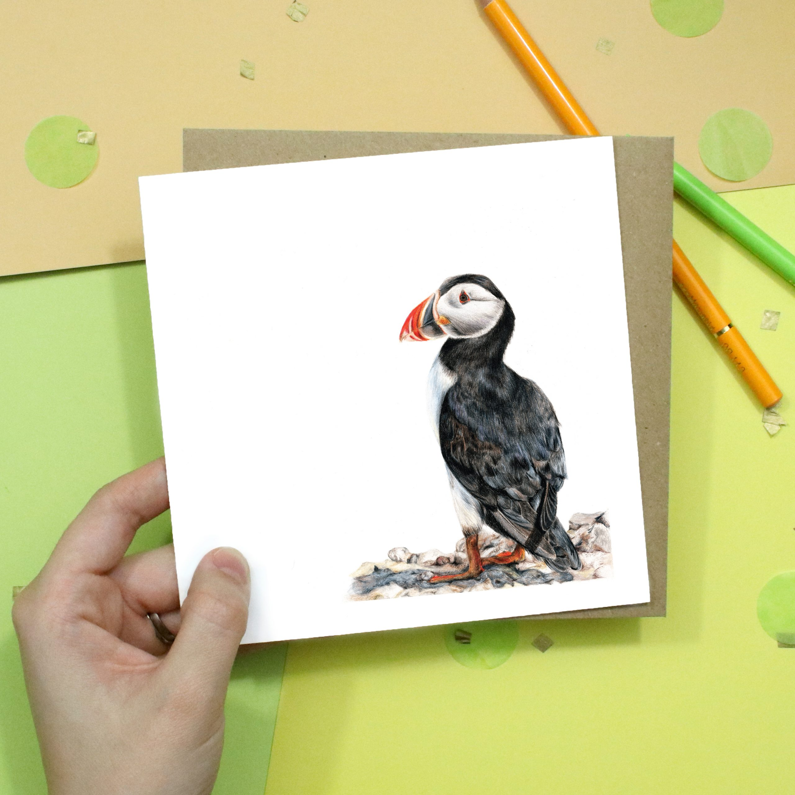 Atlantic Puffin Card | Bird Card | Wildlife Card