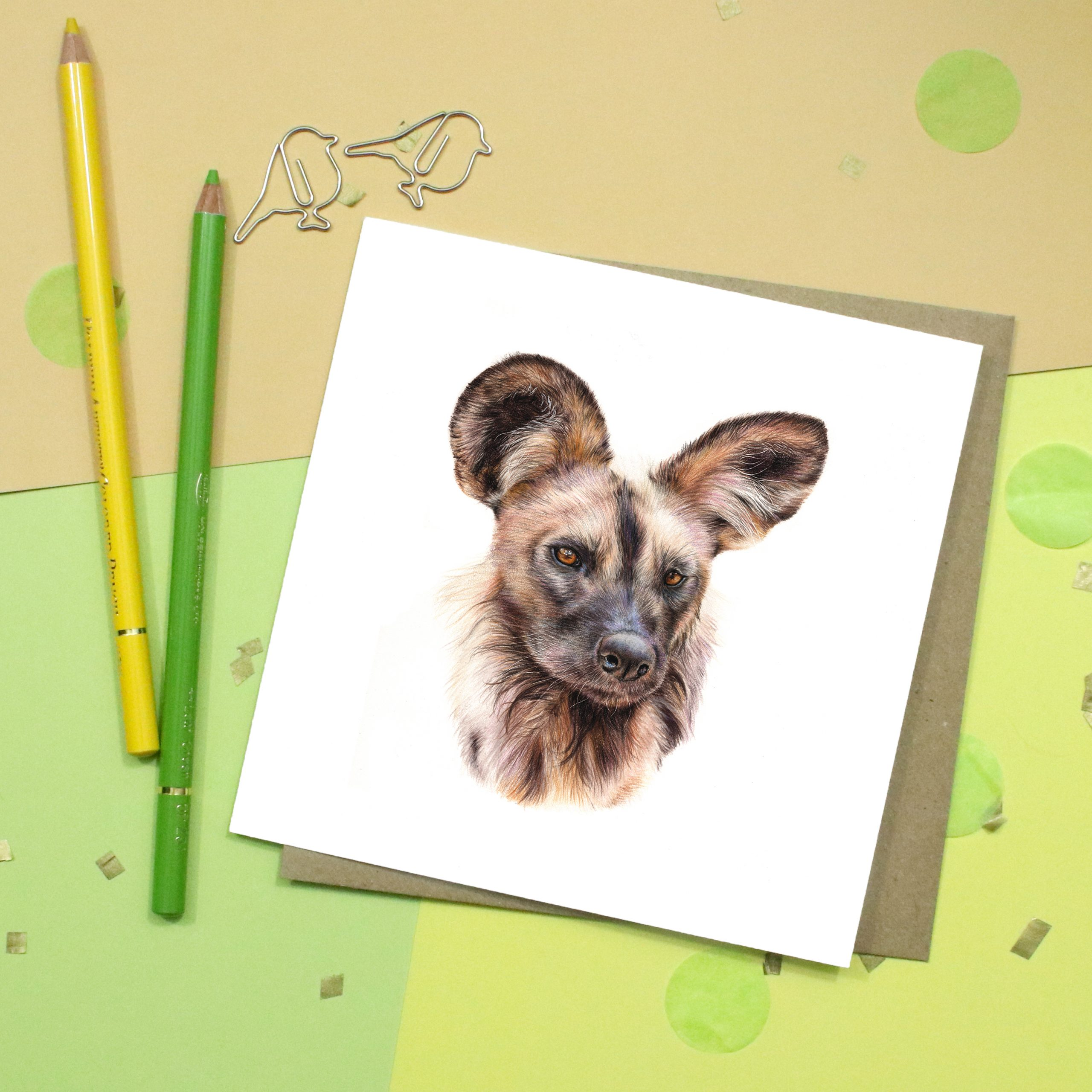 African Wild Dog Card | Dog Card | Wildlife Card