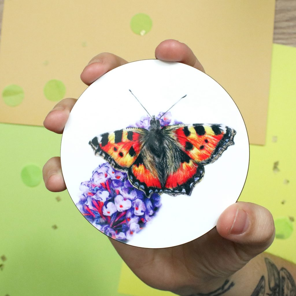 Butterfly Coaster   Insect Coaster   Coaster