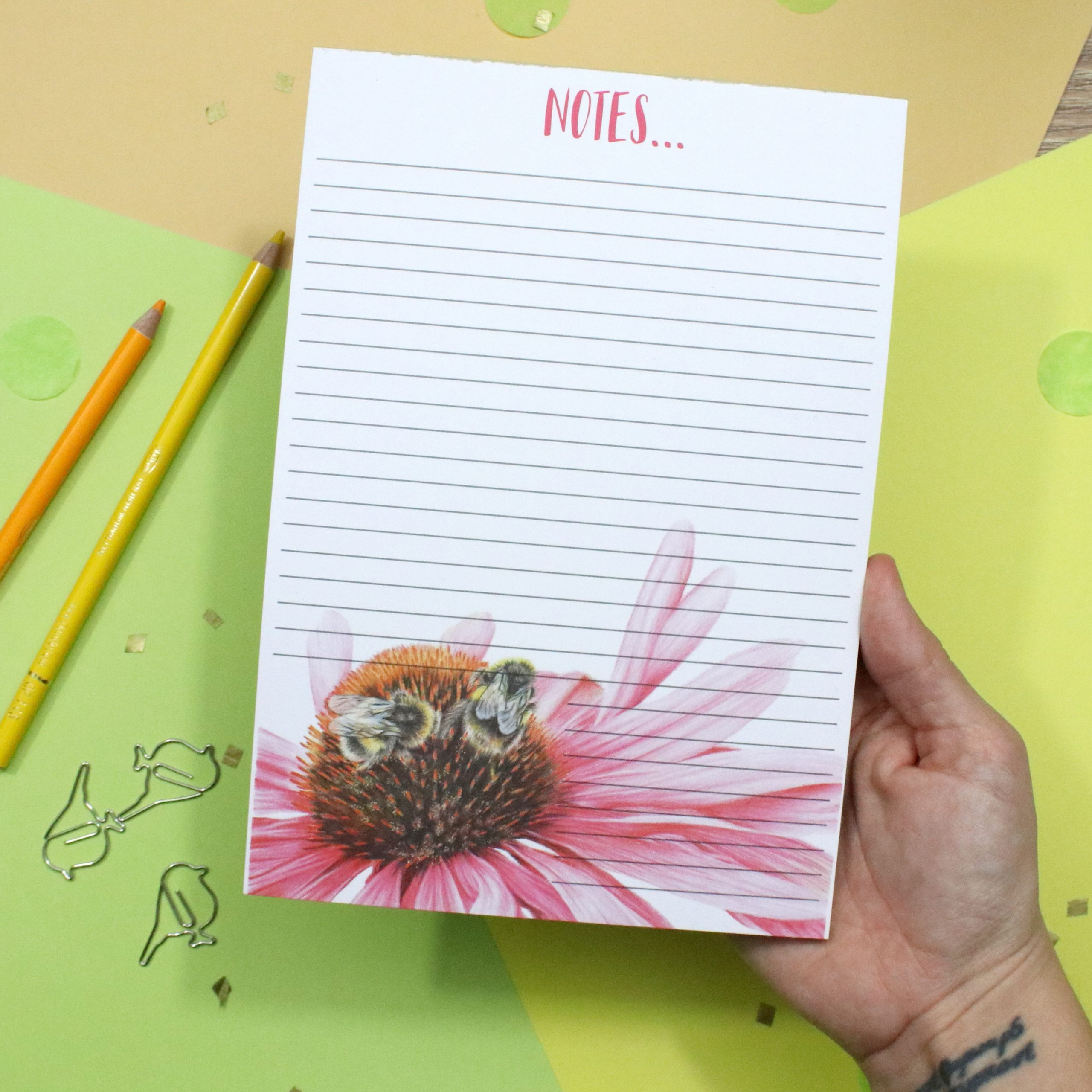 Bee Notepad | Bee Gift | Lined Notepad